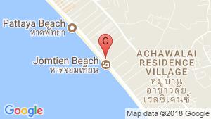 Copacabana Beach Jomtien location map