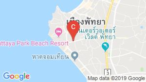 T.W. Jomtien Beach Resort location map