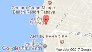 Wyndham Atlas Wongamat Pattaya location map