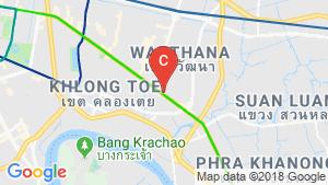 Shophouse for sale in Phra Khanong Nuea, Bangkok near BTS Ekkamai location map