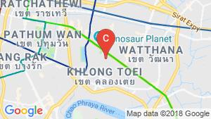Shophouse for sale in Khlong Tan, Bangkok location map