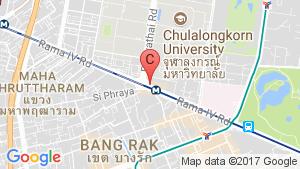 แผนที่สถานที่  ให้เช่าคอนโด ไอดีโอ คิว จุฬา-สามย่าน  ใน ปทุมวัน, ปทุมวัน ใกล้  MRT สามย่าน