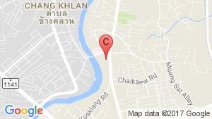 Chiang Mai Riverside Condo location map