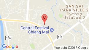 D Condo Sign Chiangmai location map