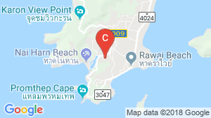 2 Bedroom Apartment for rent in Nai Harn, Phuket location map