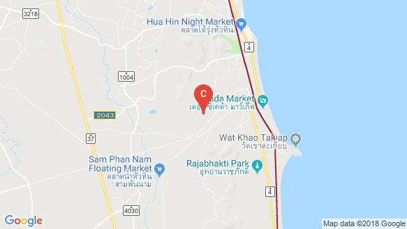 Falcon Hill Hua Hin location map