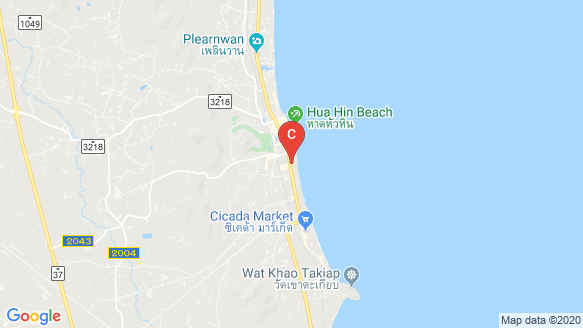 Intercontinental Residence Hua Hin location map