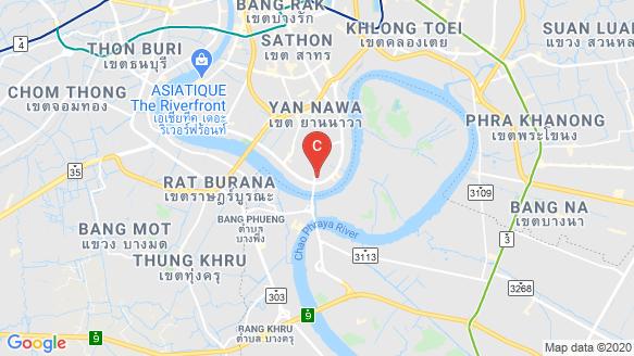 Lumpini Place Rama 3 - Riverine location map