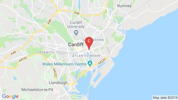 แผนที่สถานที่ Opto Student Cardiff