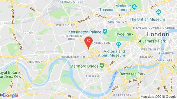 Kensington Row peta lokasi