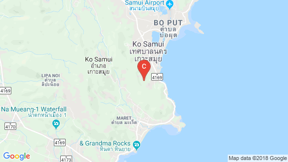 The Lux Samui location map