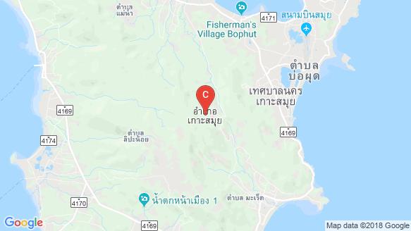 DUNE Hills Samui location map