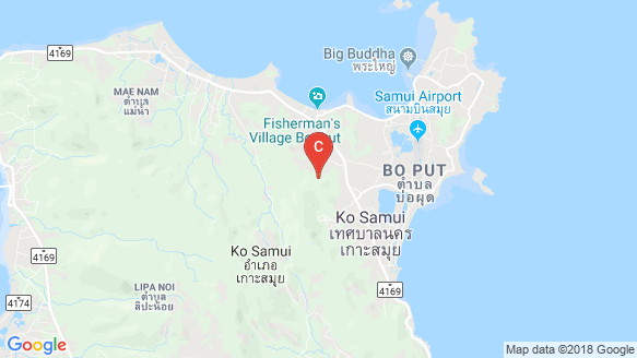 Luxana Villas Koh Samui location map