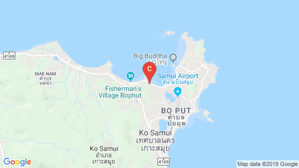 DUNE Hills Samui location map